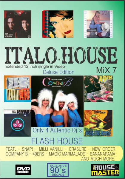 Dvd italo house mix 7 housemaster e shop for Classic italo house zenhiser